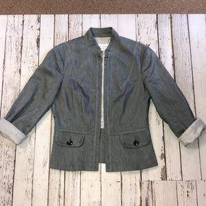 Trina Turk Cotton/Linen/Poly Blend Jacket Size 8